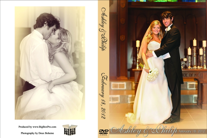 Ashley & Philip's Wedding DVD Case